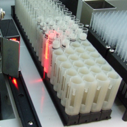 Fully automated ELISA analyzer with barcode reader